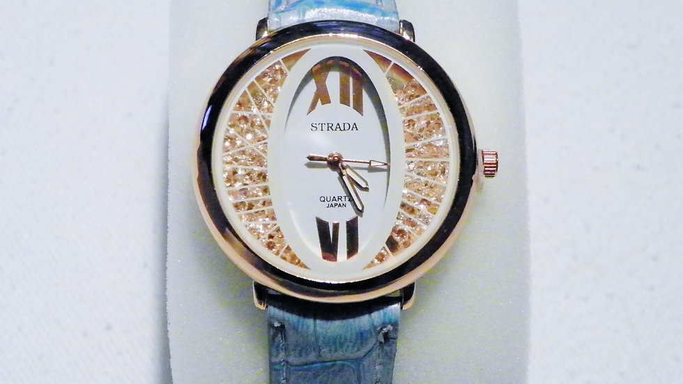 Rose Gold/Stainless Steel watch w/Austrian Crystal Japanese Movement