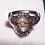 Thumbnail: Natural Ethiopian Welo Opal & white zircon halo ring in platinum over 925 sz 8