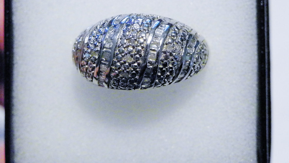 Diamond Ring (.25ct) ring in Platinum over Nickel Free Sterling Silver sz 7