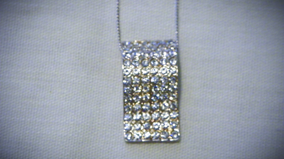 Cubic Zirconia fancy pendant on 925 Sterling silver chain 21 inches
