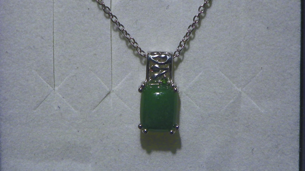 Burmese Jadeite and Russian Diopside necklace 3.75 cts 20 inches