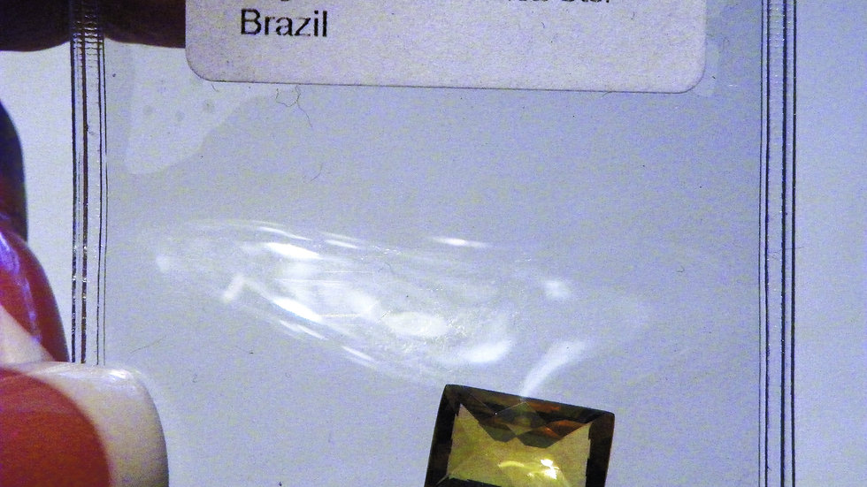 Brazilian Citrine loose gemstone 12 mm x 8 mm baguette TGW 3.02 cts