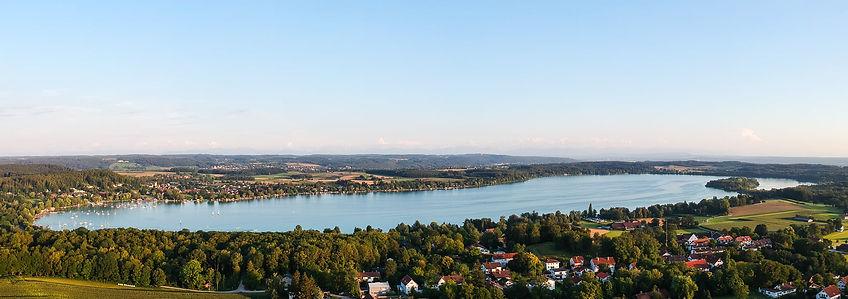 woerthsee panorama luftaufnahme