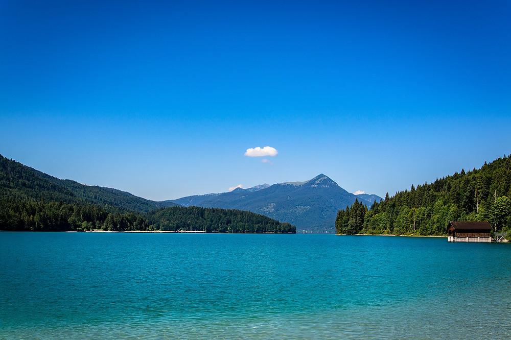 Der Walchensee in Oberbaybern