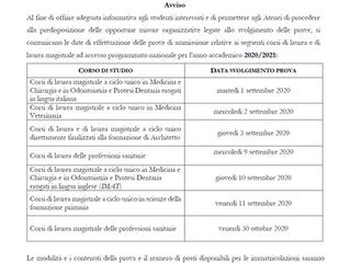 Accesso Programmato 2020-2021