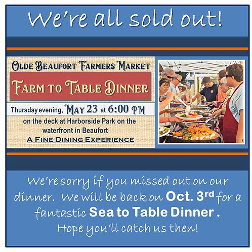 Farm To Table Dinner - Sold Out