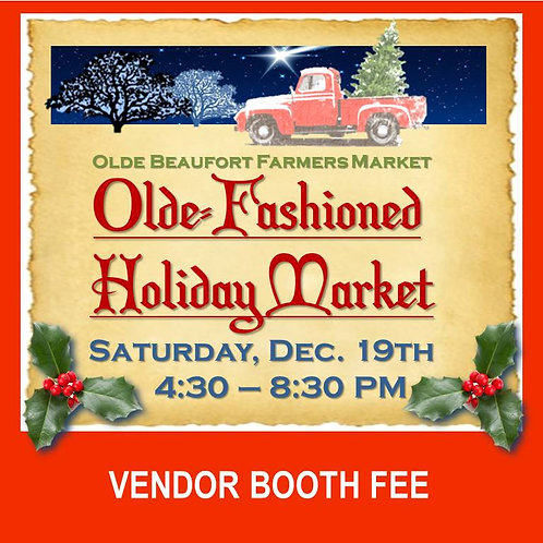 December Holiday Market Booth Fee
