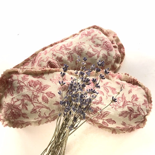 Weighted over-sized Eye Pillow- Antique Rose
