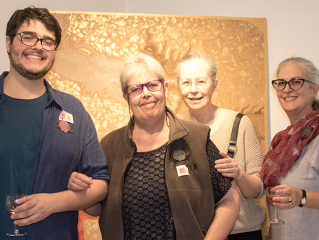 Alex Veddovi McCaughan supported by his aunts and mother (third on right), Manuela Veddovi