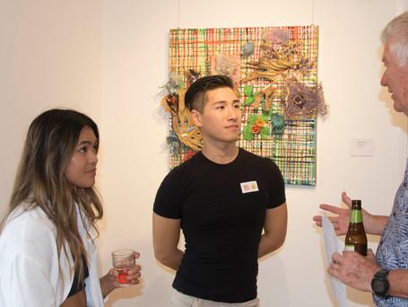 Leo Shum (Chun Wa) discussing his work with Warren Chandler