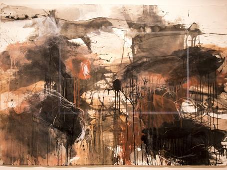 Burnt Tree Stump by Ruth le Cheminant