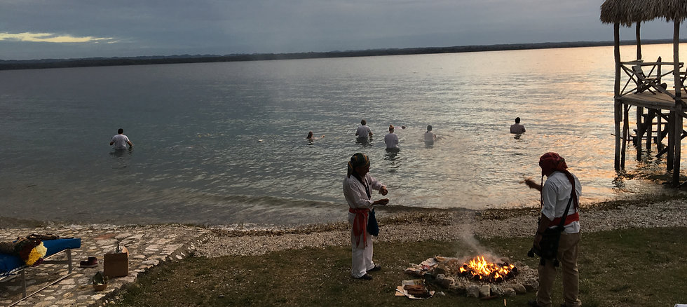 Mayan Fire Ceremony - PetenItza Lake - Guatemala