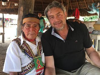 Daniel and Achuar shaman Sumpa