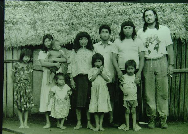 Back in time, Daniel and Shuar family