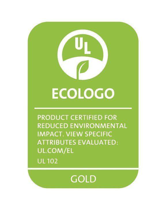 EcoLogo product certification for reduced environmental impact