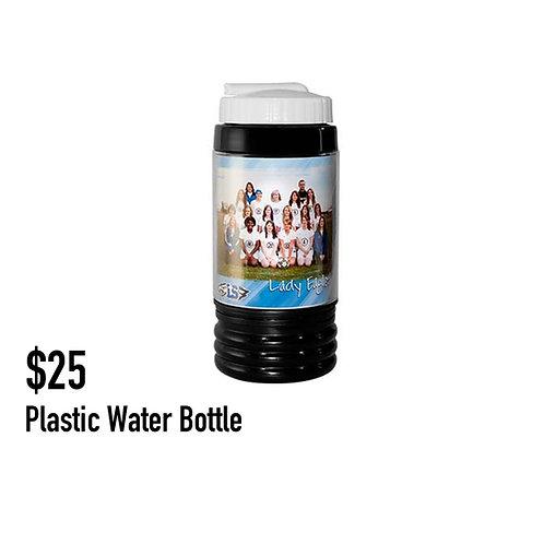 2. Plastic water bottle