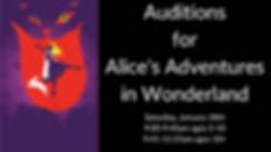 Auditions for Alice's Adventures in Wond