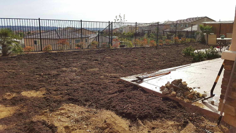 Before Irrigation & Sod Installation