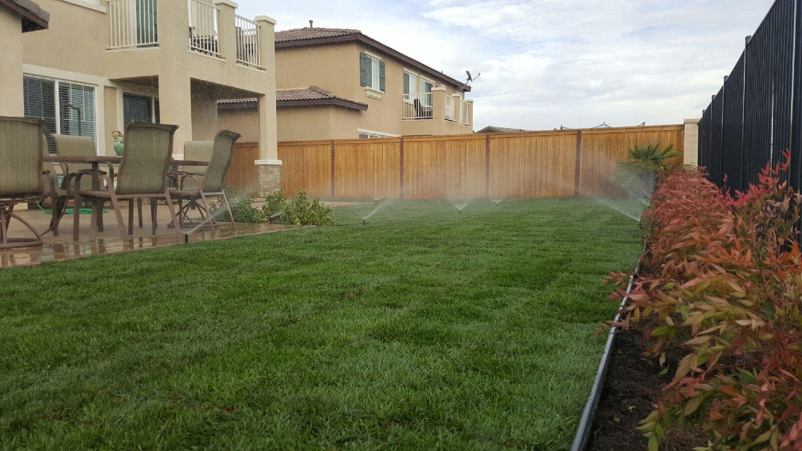 After Irrigation & Sod Installation