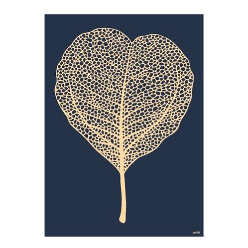 Golden leaf blue