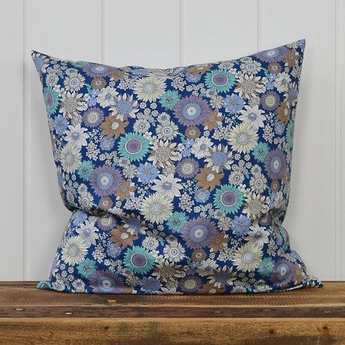 12075 Retro flowers - blue