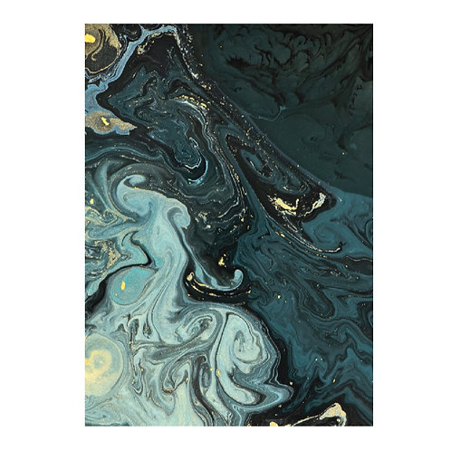 Marble ink blue