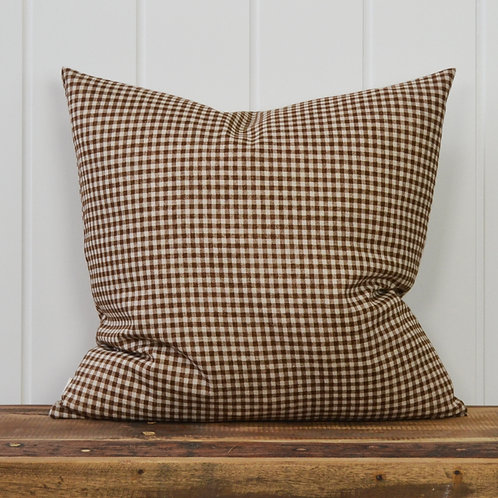13010 Mini check - brown beige