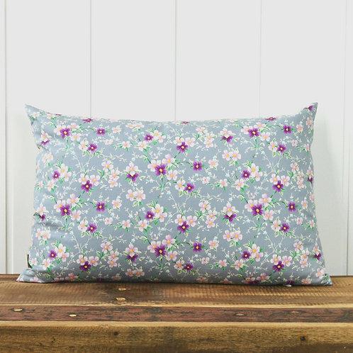 Japanese flowers - lilac/grey