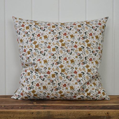 12033 Flowerfield - offwhite/mustard
