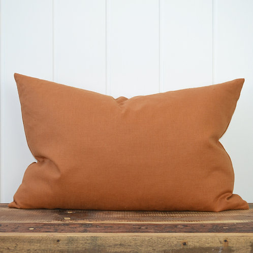 Washed linen - terracotta
