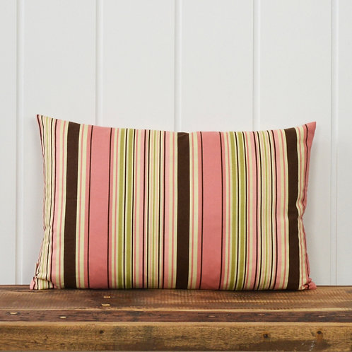 11033 Stripes - dusty rose/yellow/brown