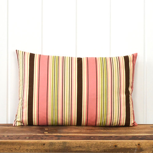Stripes - dusty rose/yellow/brown