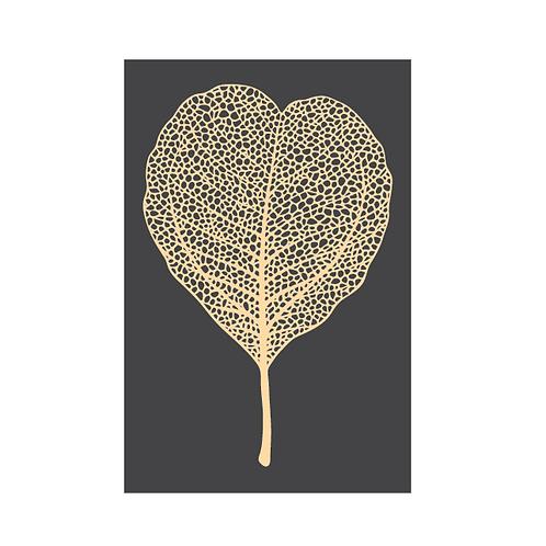 Golden leaf charcoal