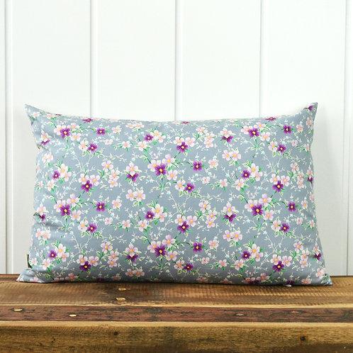 12067 Japanese flowers - lilac/grey
