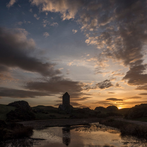 Smailholm Tower sunset