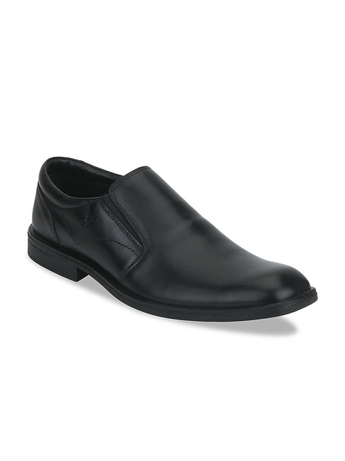 Park Avenue Black Leather Slip-on