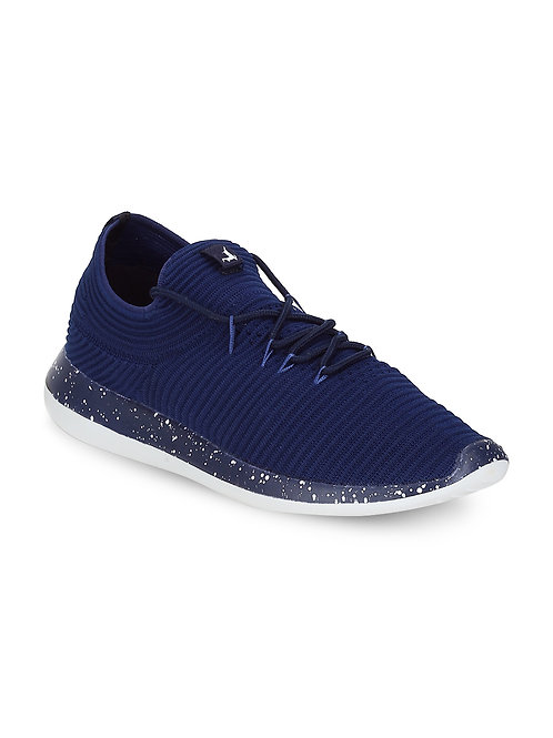 Parx Blue Slip on Sneakers