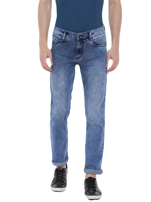 Parx Slim Fit Blue Stretchable Jeans