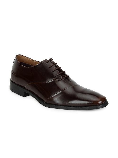 Raymond Chocolate Brown Leather Oxfords