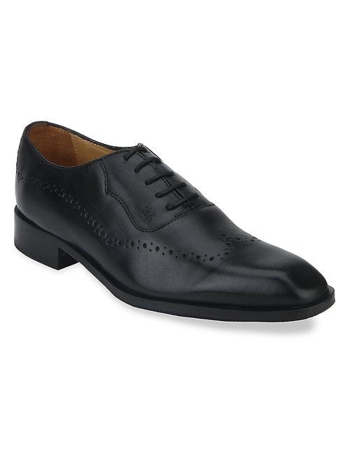 Raymond Black Leather Oxfords