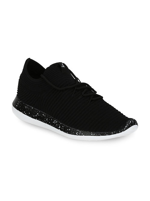 Parx Black Slip-on Sneakers