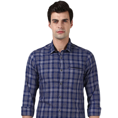 Colorplus Regular Fit Casual Checkerd