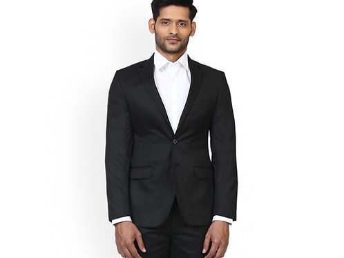 Raymond Solid Black Single Breasted Suit