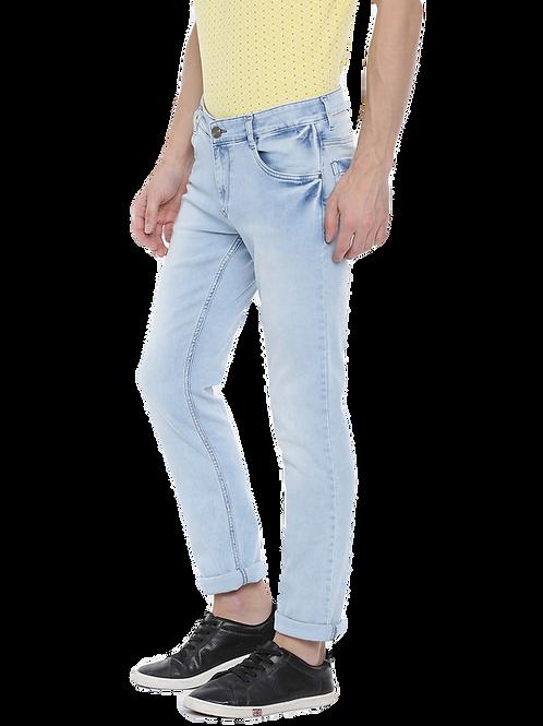 Parx Mid-Rise Sky Blue Stretchable Jeans