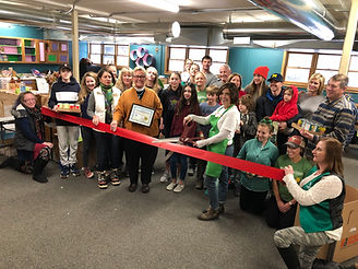 Mountain Backpacks Ribbon Cutting Photo.