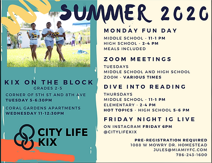 Kix Monday Funday 2020 Summer Program.PN