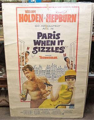 1950s-60s Movie Poster - Paris When It Sizzles