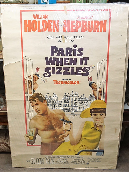 1950s-60s Movie Poster - Paris When It Sizzles