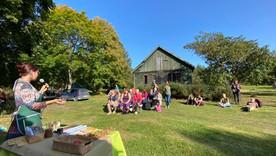 Kurzemes permakultūras festivālā  par mantotajiem kultūraugiem 2020. gada 19. septembrī