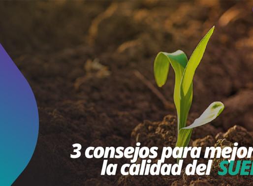 Tres consejos para mejorar la calidad del suelo